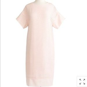 J Crew Shift Dress Blush Pink Chiffon Sz 00 Pleads